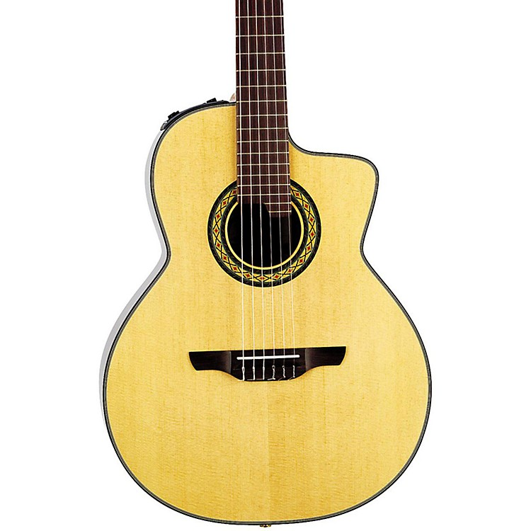 TakamineTC135SC Classical 24-Fret Cutaway Acoustic-Electric GuitarNatural