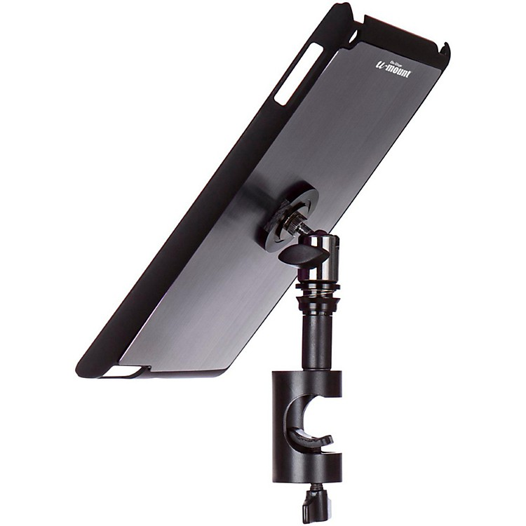 On-Stage Stands TCM9161 Quick Disconnect Tablet Mounting System with Snap-On Cover Gun Metal