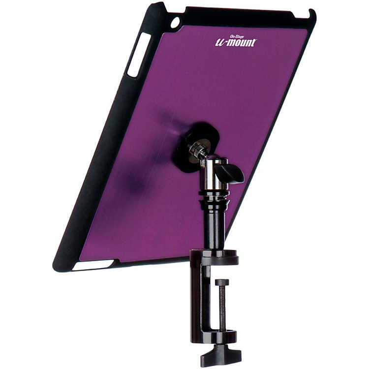 On-Stage Stands TCM9163 Quick Disconnect Table Edge Tablet Mounting System with Snap-On Cover Purple