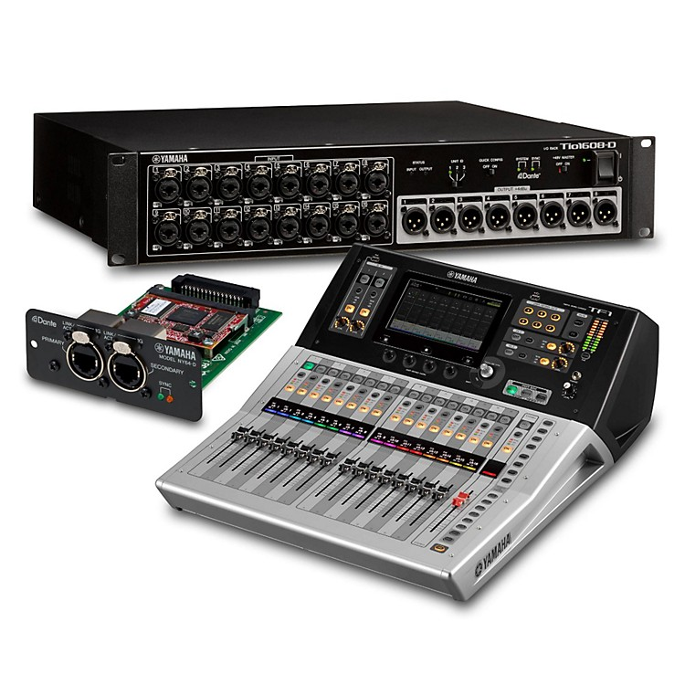 Yamaha TF1 16-Ch Digital Mixer with Tio1608-D Dante Stage Box and Expansion Card