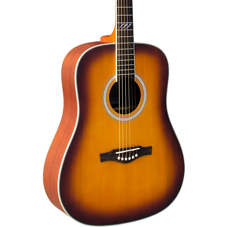 EKO TRI Series Dreadnought Acoustic Guitar Honey Burst