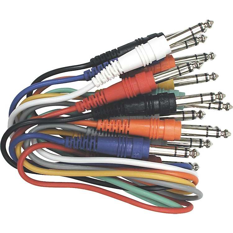 Live Wire TRS-TRS Balanced Patch Cables 8-Pack  17 in.