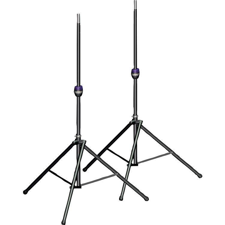 Ultimate SupportTS-99BL Tall Leveling-Leg Speaker Stand Pair Black