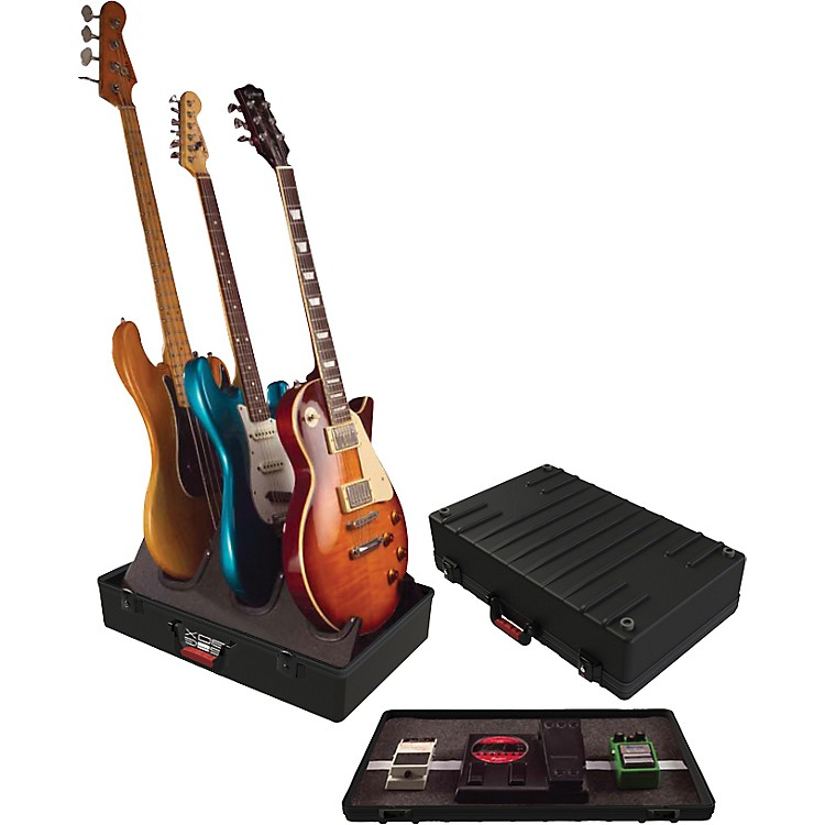 Gator TSA GIG-BOX Guitar Stand/Pedalboard Holds 3 electric guitars