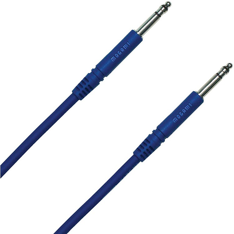 Mogami TT-TT Patch Cable Blue 18 in.