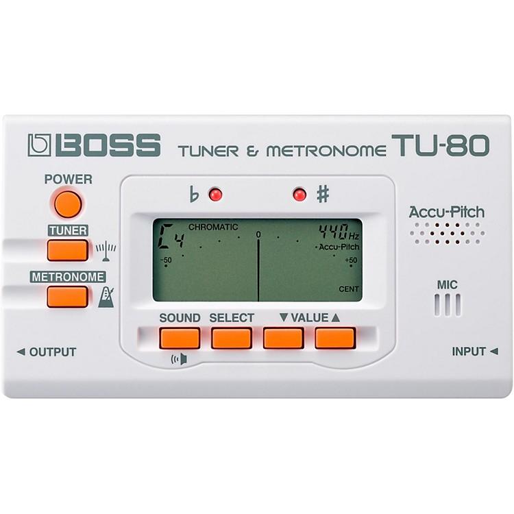 BossTU-80 Guitar Tuner & MetronomeWhite