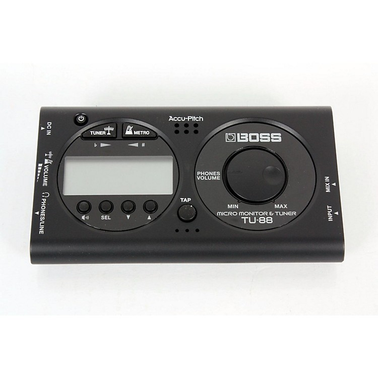 Boss TU-88 Micro Monitor & Tuner for Guitar & Bass BLACK 888365150307