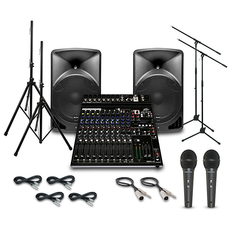 AltoTX15USB with Peavey PV14AT Mixer PA System