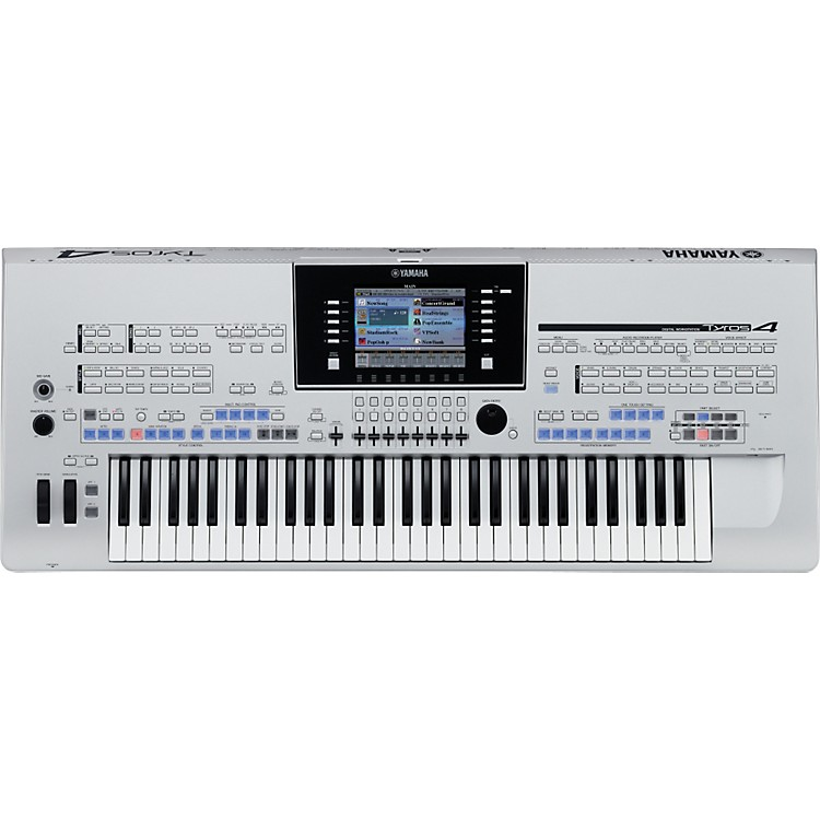 Yamaha Tyros4 Arranger Workstation Keyboard Silver