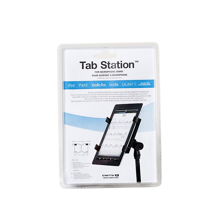 CastivTab Station for Mic Stand - iPad & Tablet Computer Adapter for Microphone Stand
