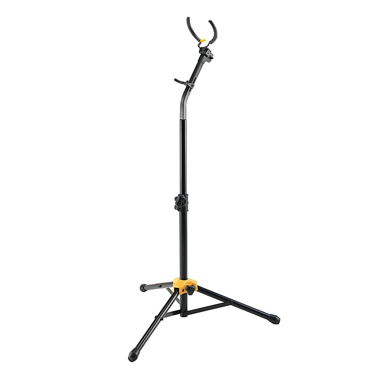 Hercules Stands Tall Auto-Grab Sax Stand Black