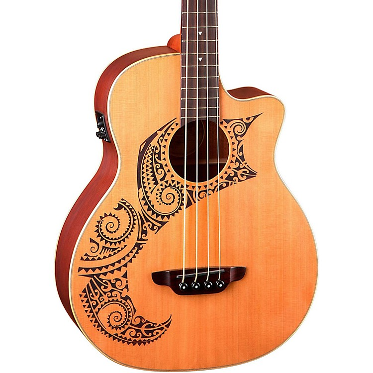 Luna Guitars Tattoo Cedar Acoustic-Electric Bass