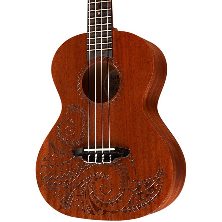 Luna Guitars Tattoo Tenor Ukulele Natural Tenor