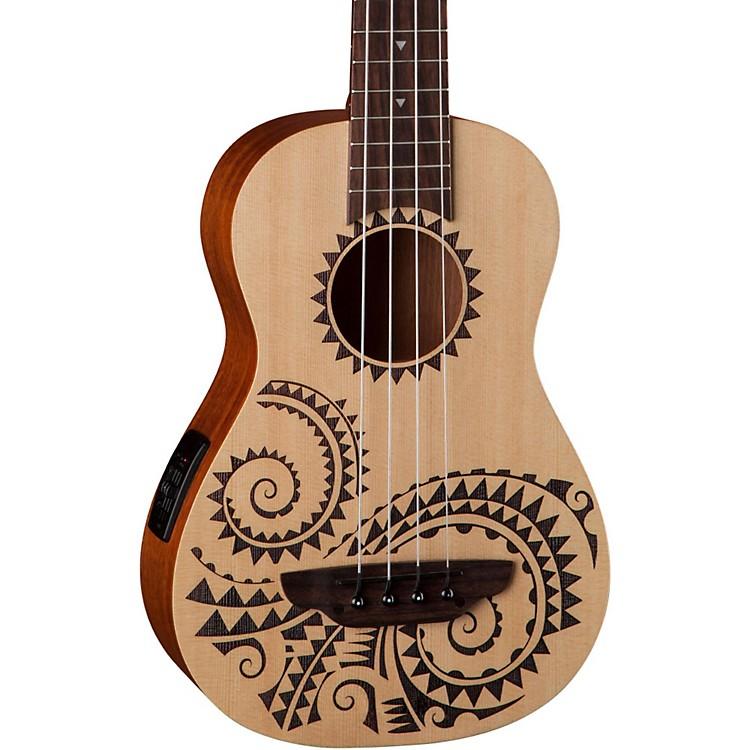 Luna GuitarsTattoo Ukulele Acoustic-Electric Bass