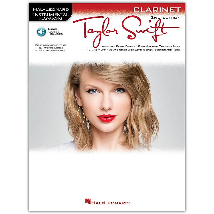 Hal Leonard Taylor Swift For Clarinet - Instrumental Play-Along Book/CD