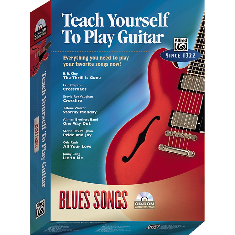 AlfredTeach Yourself To Play Guitar: Blues Songs (CD-ROM)