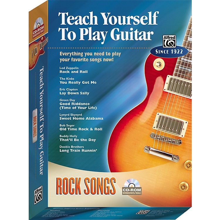 AlfredTeach Yourself To Play Guitar: Rock Songs (CD-ROM)