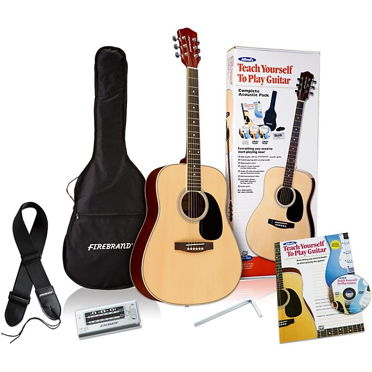 Alfred Teach Yourself to Play Acoustic Guitar Complete Starter Pack Pack
