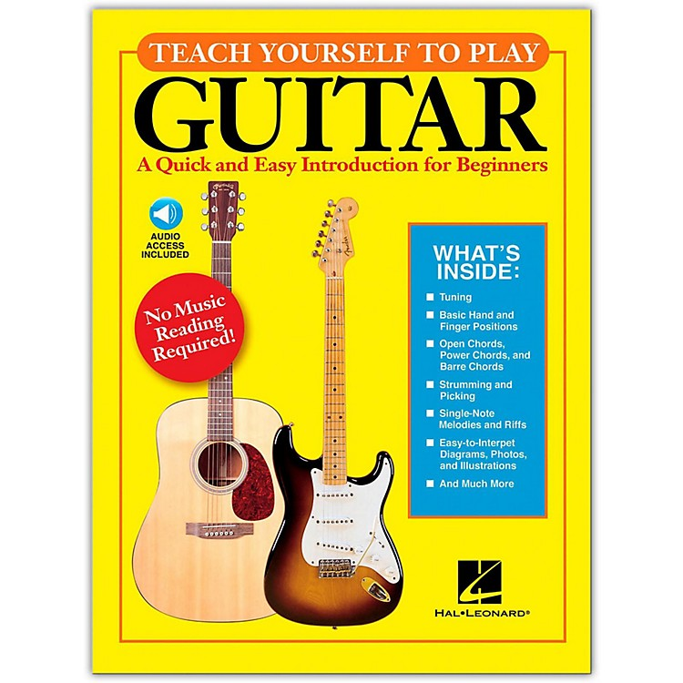 Hal LeonardTeach Yourself to Play Guitar Book/Online Audio