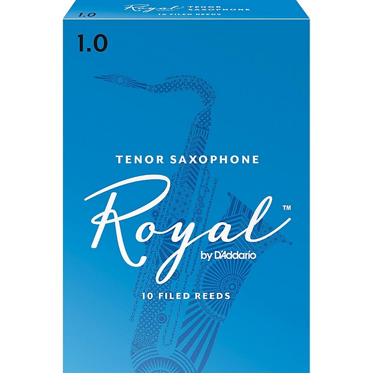 Rico Royal Tenor Saxophone Reeds, Box of 10 Strength 1