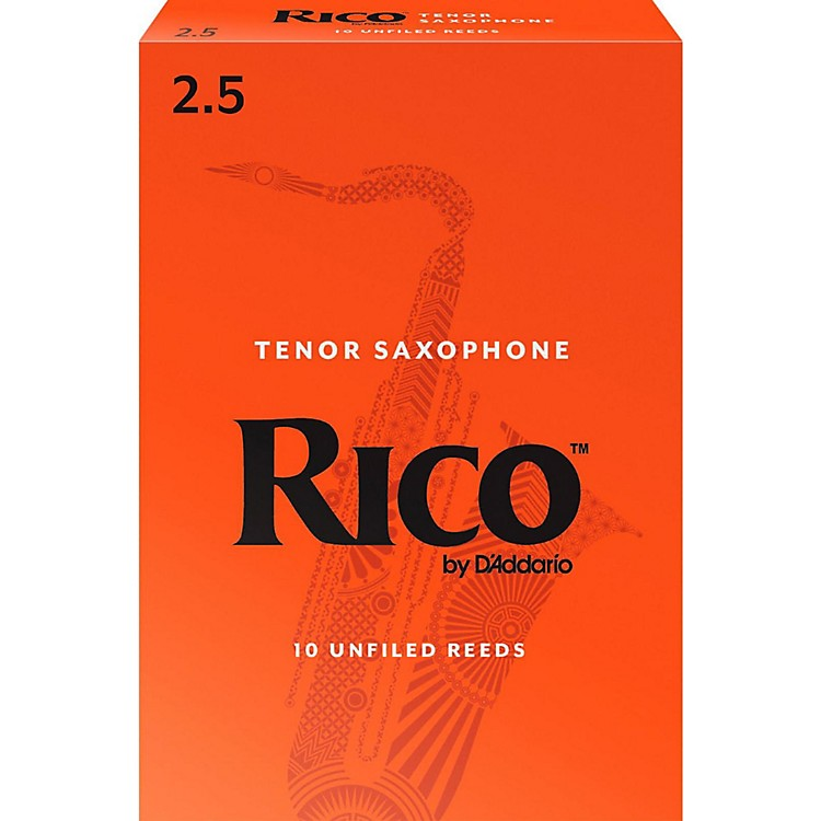 Rico Tenor Saxophone Reeds Box of 10 Strength 2.5