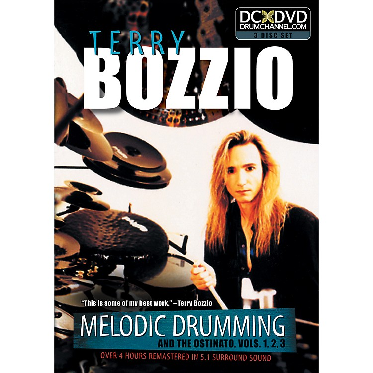 The Drum ChannelTerry Bozzio - Melodic Drumming and the Ostinato Vol. 1, 2, 3   3 DVD SET