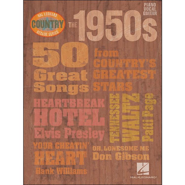 Hal LeonardThe 1950s Country Decade Series arranged for piano, vocal, and guitar (P/V/G)