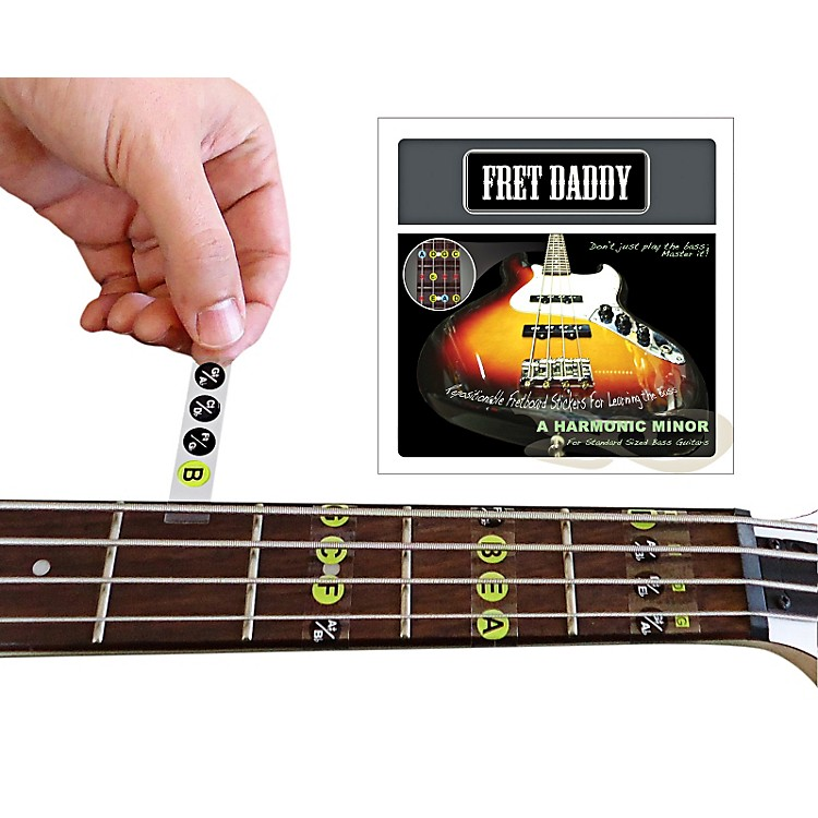 Fret DaddyThe A Harmonic Minor Scale for Bass Guitar