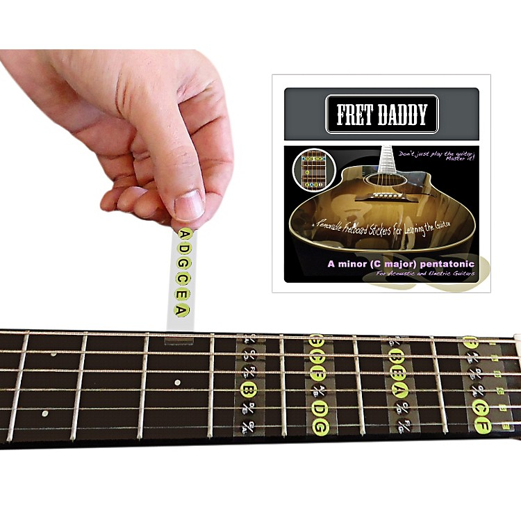 Fret DaddyThe A Minor Pentatonic Scale for Electric/Acoustic Guitar