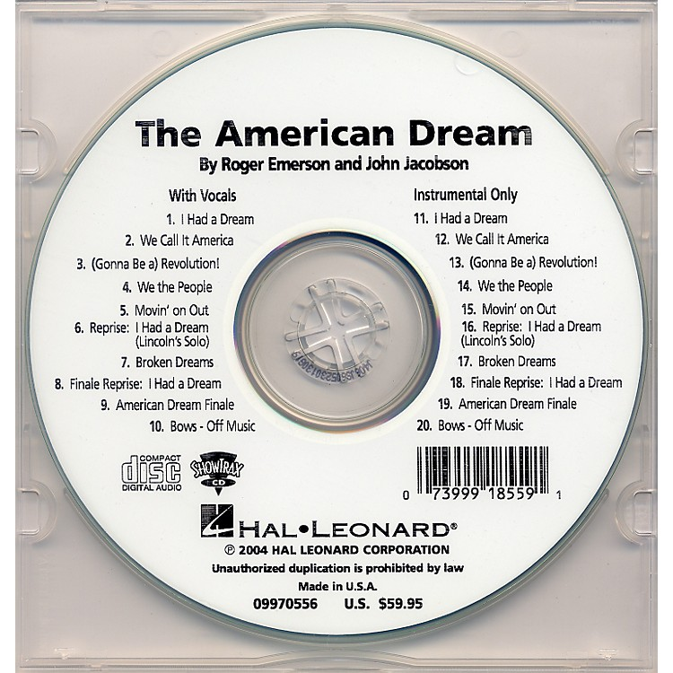 Hal Leonard The American Dream Performance/Accompaniment Cd
