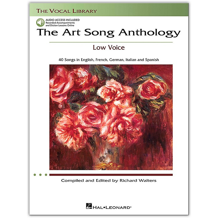 Hal LeonardThe Art Song Anthology for Low Voice Book with 3 CD's