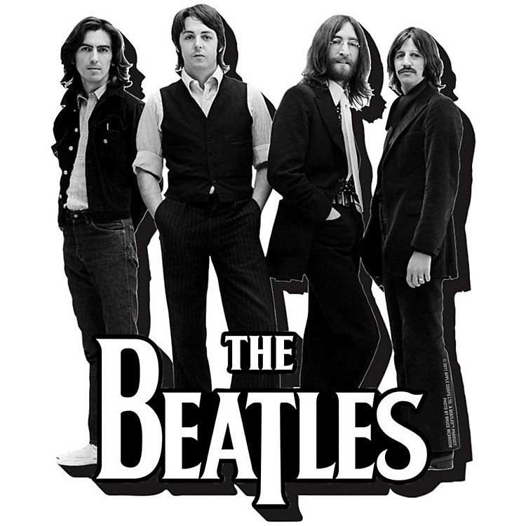Hal Leonard The Beatles Black and White - Chunky Magnet