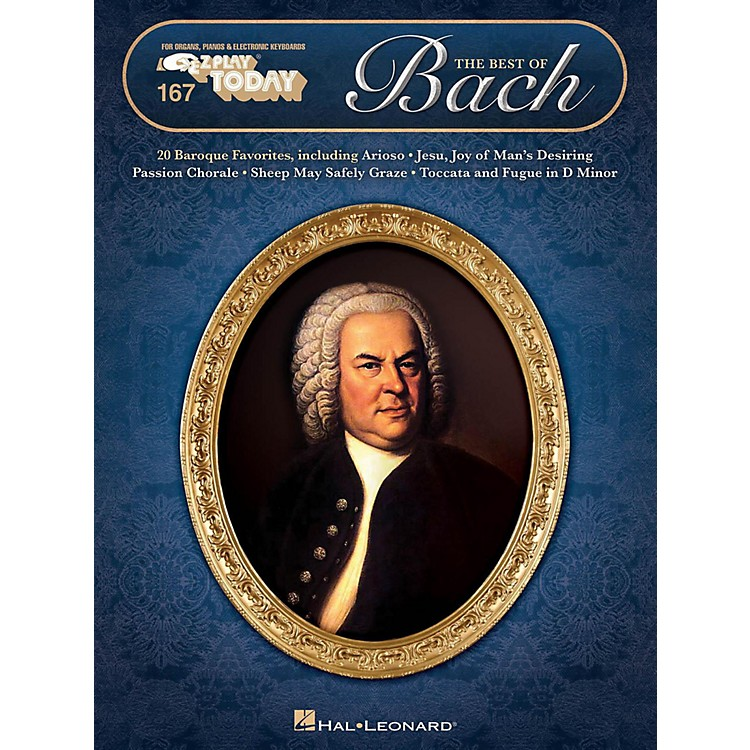 Hal Leonard The Best Of Bach E-Z Play Today Volume 167