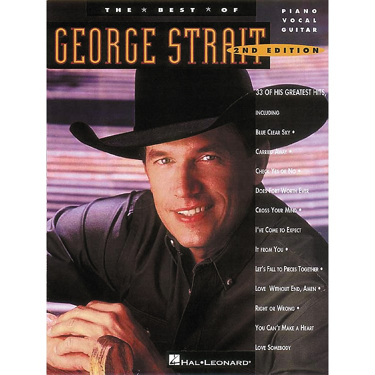 Hal LeonardThe Best of George Strait Piano, Vocal, Guitar Songbook