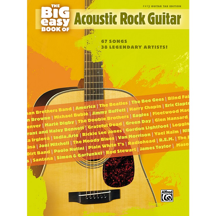 Simple Book Cover Guitar ~ Alfred the big easy book of acoustic guitar tab music