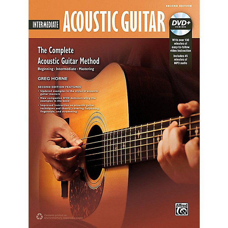 Alfred The Complete Acoustic Guitar Method: Intermediate Acoustic Guitar (2nd Edition) - Book & DVD