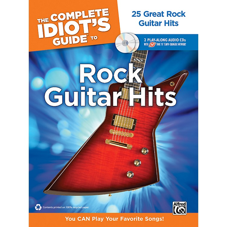 AlfredThe Complete Idiot's Guide to Rock Guitar Hits Tab Book/ 2 CDs