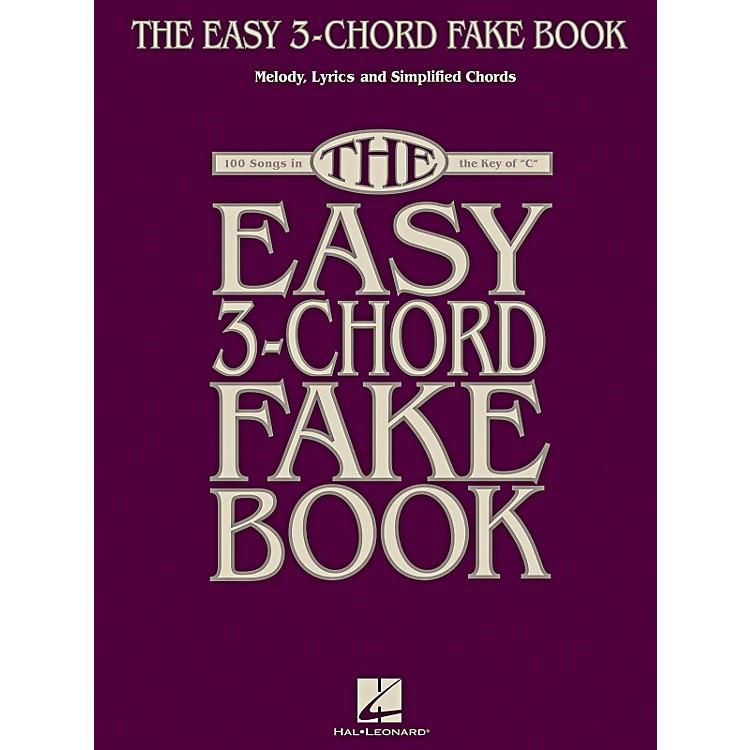 Hal LeonardThe Easy 3-Chord Fake Book - Melody, Lyrics & Simplified Chords In Key Of C
