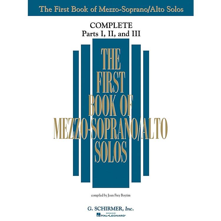 G. SchirmerThe First Book Of Mezzo-Soprano/Alto Solos Complete Parts 1, 2 and 3