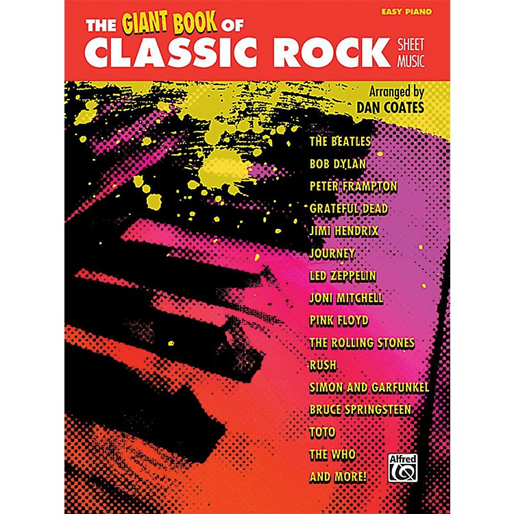 AlfredThe Giant Book of Classic Rock Sheet Music Easy Piano Book