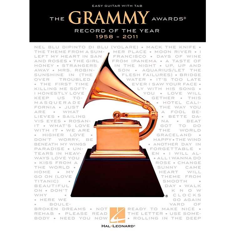 Hal LeonardThe Grammy Awards Record Of The Year 1958-2011 (Easy Guitar With Tab)