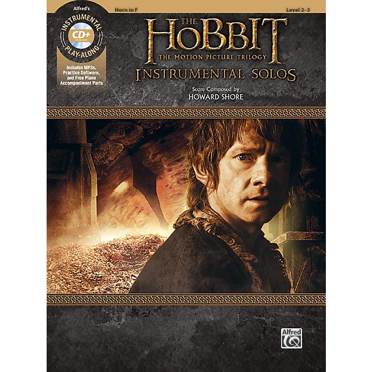 BELWIN The Hobbit - The Motion Picture Trilogy Instrumental Solos Horn in F Book & CD Level 2-3 Songbook