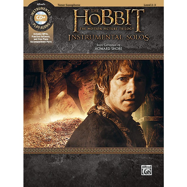 BELWIN The Hobbit - The Motion Picture Trilogy Instrumental Solos Tenor Sax Book & CD Level 2-3 Songbook