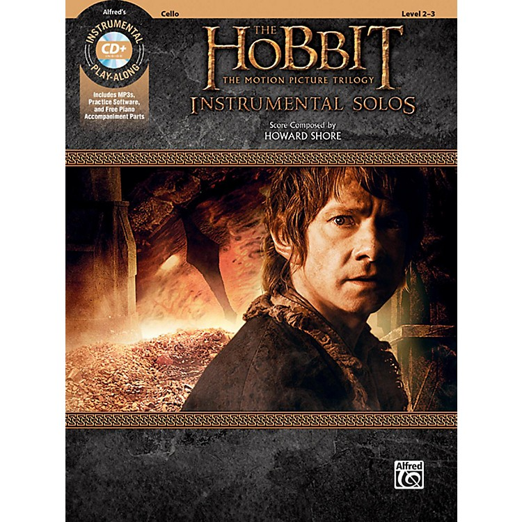 BELWIN The Hobbit - The Motion Picture Trilogy Instrumental Solos for Strings Cello Book & CD Level 2-3 Songbook