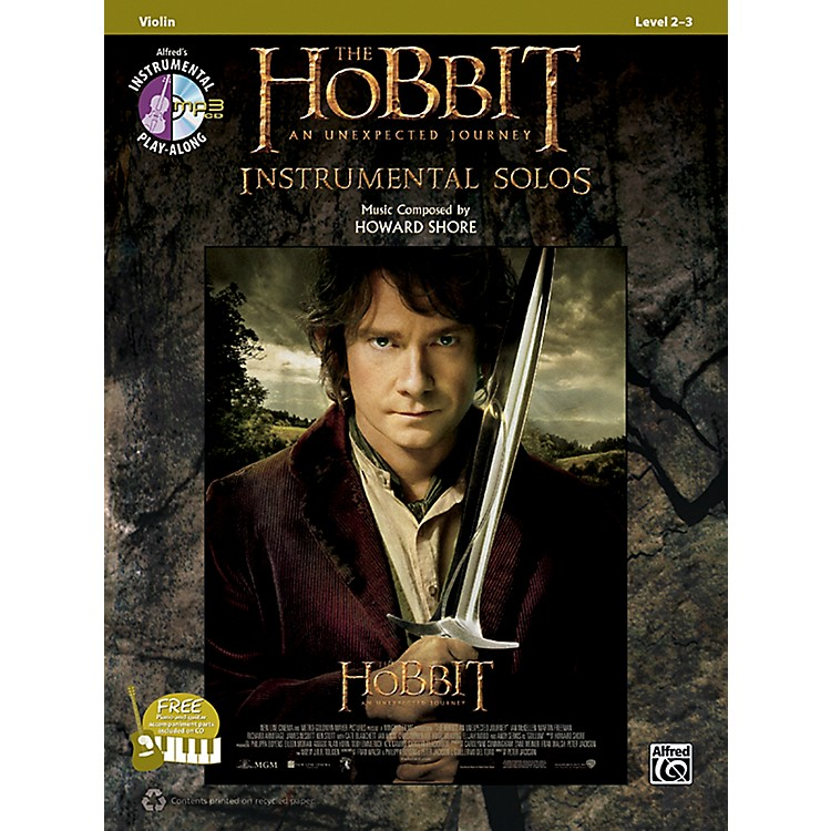 AlfredThe Hobbit: An Unexpected Journey Instrumental Solos for Strings Violin (Book/CD)