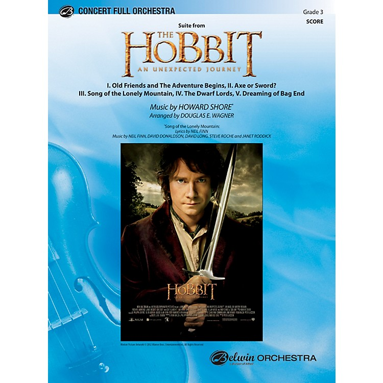 AlfredThe Hobbit: An Unexpected Journey, Suite from Concert Full Orchestra Grade 3 Set