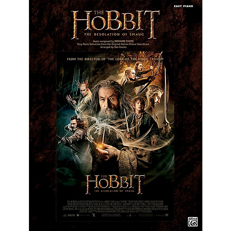 Alfred The Hobbit The Desolation of Smaug Easy Piano Book