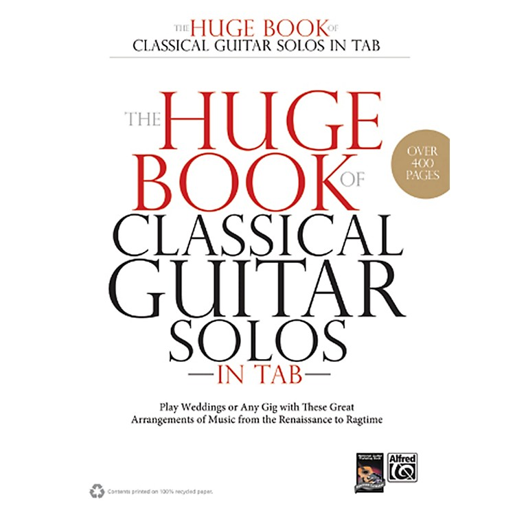 Alfred The Huge Book of Classical Guitar Solos in TAB Book