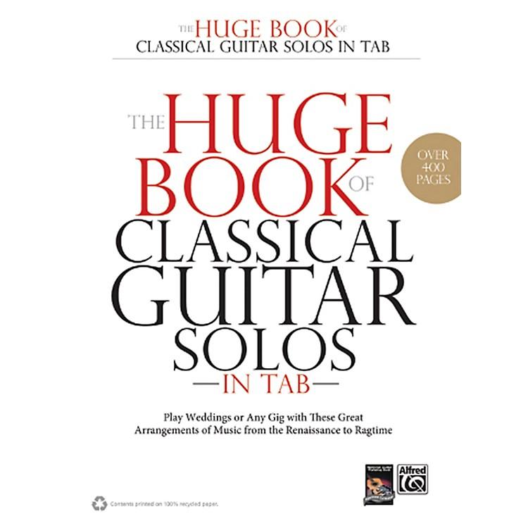 AlfredThe Huge Book of Classical Guitar Solos in TAB Book