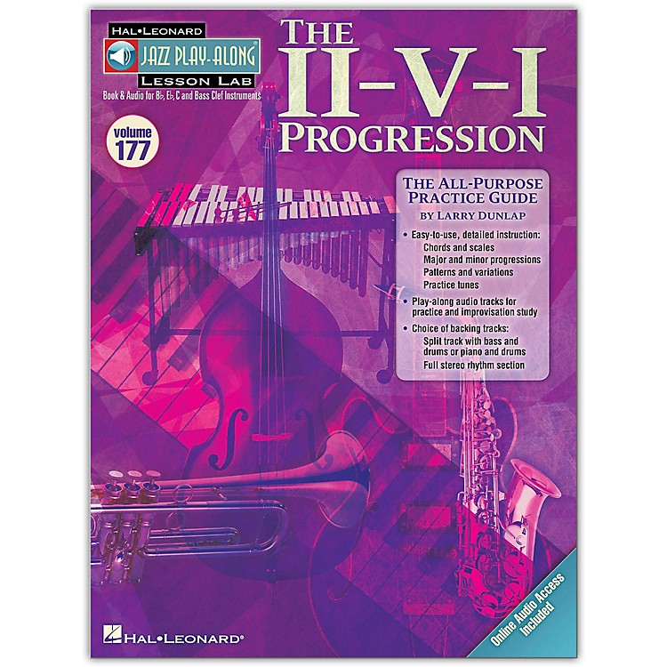 Hal LeonardThe II-V-I Progression - Jazz Play-Along Lesson Lab Vol. 177 Book/CD